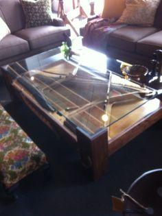 Wonderful Repurposed Piano   A Coffee Table!