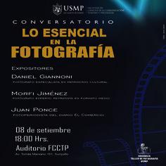 #HoyEnLaFacultad   Tres grandes profesionales de la fotografía compartirán sus conocimientos y experiencia en el conversatorio organizado por el Taller de Fotografía de nuestra Facultad. ¡No te lo pierdas!   