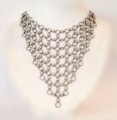Sexy Crystal Mesh Bib Necklace por WOWTHATSBEAUTIFUL en Etsy