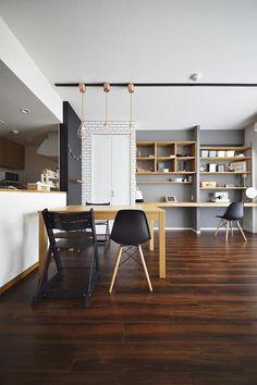 ちょこっとリノベで理想のデザインと素材感を実現の部屋 ダイニング Condo Living, Home And Living, Room Interior Design, Interior Decorating, Interior Concept, Asian House, Apartment Makeover, Furniture Inspiration, Home Renovation