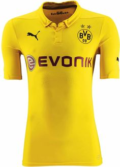The Borussia Dortmund International Shirt will be used in Champions League matches only and offers a very plain and classical look, including a buttoned collar. Mens Polo T Shirts, Team Shirts, Sports Shirts, Champions League, Jersey Atletico Madrid, Football Kits, Jelsa, Vintage Shirts, Sports