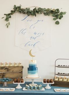 We all now know the phrase, but this Love you to the moon baby shower gives it a whole new meaning! Jacqui at Deets & Things used a play on words to come up with the celestial theme.
