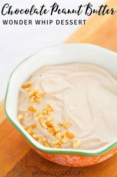 Chocolate Peanut Butter Wonder Whip Is A Healthy Dessert. It's Rich In Protein, No Bake, And Easy To Make. A Perfect Combo Of Flavors Help To Fight Cravings Mindset Dessert Wonderwhip 21 Day Fix Dessert Healthy Desserts 21 Day Fix Desserts, Quick Healthy Desserts, Healthy Dessert Recipes, Fun Desserts, Dinner Recipes, Healthy Meals, Healthy Habits, Lunch Recipes, Dinner Ideas