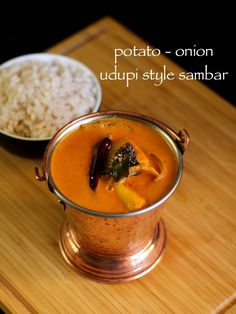 udupi sambar recipe, coconut sambar recipe, potato onion sambar with step by step photo/video recipe. similar to southe kayi sambar from udupi/mangalore Coconut Recipes, Lemon Recipes, Sweets Recipes, Kitchen Recipes, Potato Recipes, Lunch Recipes, Vegetable Recipes, Indian Food Recipes, Vegetarian Recipes