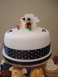 Lego Bridge & Groom cake topper by Angelina Cupcake, via Flickr