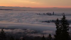 The Beauty Of Fog - A Timelapse Video Shot In Vancouver Canada 2014 Spending some mornings and nights chasing the fog visited Vancouver in January to beginning… Visit Vancouver, Some Nights, Across The Border, Night Shot, Canada Day, First Night, Mornings, Sunset, Landscape