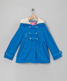 It'll be no trouble getting kids to bundle up when this fleecy jacket is on hand! Lined with soft faux fur and boasting dual snap and zipper closures, it's one outer layer they'll love.Shell: cotton / polyesterLining: 100% polyesterMachine wash; tumble dryImported