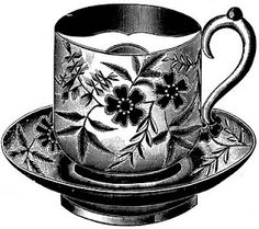 Free Vintage Clip Art - Vintage Tea Cups