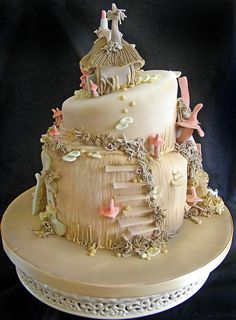fairytale cakes | pixie cake this cake was based on some little models the customer had ...