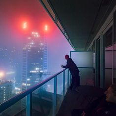 The fog is Vancouver is unreal. Something straight out of retro future 80s. #retrofuturism - View more on http://ift.tt/1Ju7j6H Photo by Shelby White