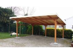 Pergola Bois Triangulaire - Pergola DIY Rustic - Pergola With Roof Garage Doors - Carport Patio, Carport Plans, Carport Garage, Pergola Swing, Deck With Pergola, Outdoor Pergola, Pergola Shade, Pergola Plans, Diy Pergola