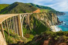 Bixby Creek Bridge, Big Sur, California puzzle in Puzzle of the Day jigsaw puzzles on TheJigsawPuzzles.com. Play full screen, enjoy Puzzle of the Day and thousands more.