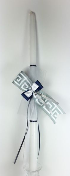 A personal favorite from my Etsy shop https://www.etsy.com/listing/175419700/greek-key-greek-easter-candle-lambatha