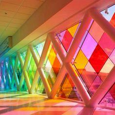 Rainbow corridor.