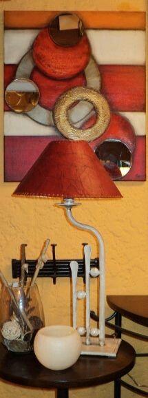 Peinture acrylique, collage métal et pate de verre Dessin
