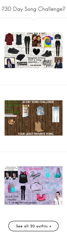 """♥30 Day Song Challenge♥"" by jetblackheart2020 ❤ liked on Polyvore featuring Topshop, Forever 21, Full Tilt, EGREY, Converse, Ernesto Esposito, Halogen, Miss Me, Ariat and Yoobi"