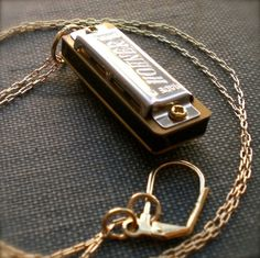 Harmonica Necklace Mini Working Musical Instrument by contrary, you will be mine!