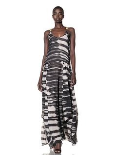L.A.M.B. Women's Stucco Printed Maxi Dress at MYHABIT - That is a maxi of a maxi dress.