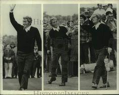 "1971 Press Photo Dean Martin plays golf at the ""Dean Martin Tuscon Open"" Hollywood Actor, Classic Hollywood, Golf Basics, Green Play, Jerry Lewis, Golf Tips For Beginners, Dean Martin, John Wayne, Play Golf"
