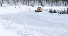 Watch These 62 Ton M1 Abrams Tanks Drift Through The Frigid Norwegian Wilderness