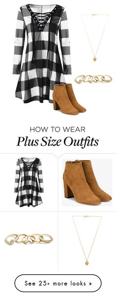 """L #5"" by anikan-472 on Polyvore featuring Aquazzura, Vanessa Mooney and GUESS"