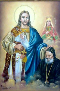 Jesus Reyes, Pope Shenouda, Images Of Christ, Heart Of Jesus, Catholic Saints, Orthodox Icons, Religious Art, Christianity, Egypt