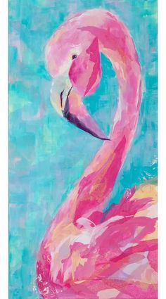 Flamingo Painting, Pink Painting, Flamingo Art, Pink Flamingos, Painting Prints, Acylic Painting Ideas, Flamingo Drawings, Pink Flamingo Wallpaper, Canvas Painting Projects