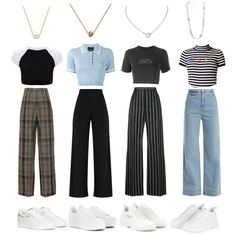 Kpop Fashion Outfits, Stage Outfits, Dance Outfits, Cute Casual Outfits, Simple Outfits, Soft Grunge Outfits, Friend Outfits, Aesthetic Clothes, Korean Fashion