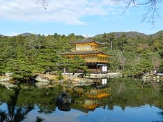 Kinkaku-ji Temple, Pavilhão Dourado, Kyoto, Japão