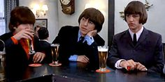 The Beatles in the pub.