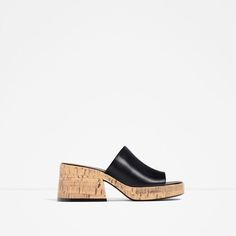 CORK AND LEATHER WEDGES-Heeled sandals-SHOES-WOMAN | ZARA United States