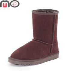 MO Winter Women Shoes New Fashion Suede Keep Warm Flat Mid-Calf Boots Snow Boots  Worldwide delivery. Original best quality product for 70% of it's real price. Hurry up, buying it is extra profitable, because we have good production sources. 1 day products dispatch from warehouse. Fast...