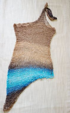 Knitting Pattern Mermaid Dress Asymmetrical Loose Ombres