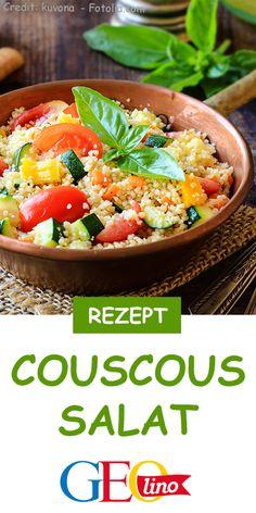 Im Sommer der Renner auf jeder Party: Couscous-Salat! Das einfache Rezept gibt's auf GEOLINO.de. #rezept #couscous #salat #sommer #sommerrezept #couscoussalat #kinderrezept #lecker #leckerschmecker Mole, Acai Bowl, Cooking, Breakfast, Ethnic Recipes, Party, Dessert, Kid Cooking, Lettuce Salads