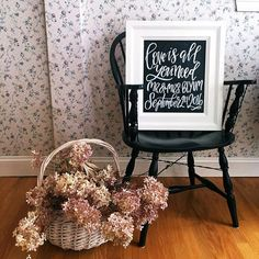 Custom wedding chalkboard welcome wedding by TheHipsterHousewife