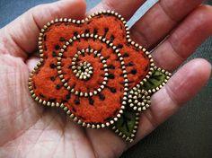 I make zipper jewelry that looks similar.