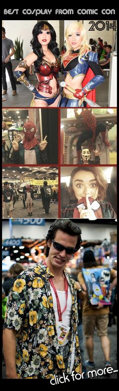 Best Cosplay From San Diego Comic Con 2014<<HAHA I saw that ace Ventura guy he was next to me on the escalator
