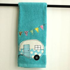 Vintage Camper Trailer Dish Towel by CreativeJunkee on Etsy, $16.00
