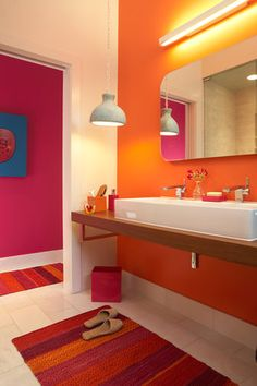 interior bathroom! Love the bright color...now my mind is thinking past mint green.