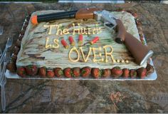 Country wedding cake deff possibility but with a bow rather than gun