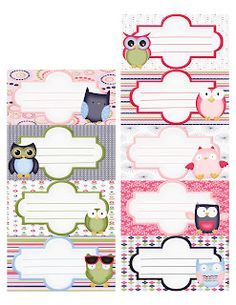 Owl Label's--Really Cute!!