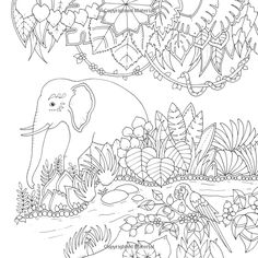 Johannas Christmas A Festive Colouring Book Books