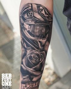 Motocross Helmet Tattoo Tatuaj Tattoo Pinterest Tattoos