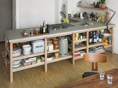 Rainer Spehl  Concrete & Oak Kitchen