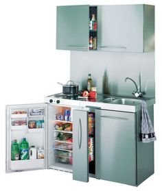 Basic Kitchen Area Concepts For Inside or Outside Kitchen areas – Outdoor Kitchen Designs Basic Kitchen, Compact Kitchen, Mini Kitchen, Kitchen Cupboard Storage, Kitchen Shelves, Mini Bad, Deco Studio, Wall Cupboards, Bunk Bed Designs