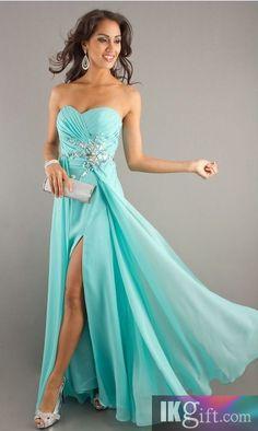 Stylish Sheath/Column Sweetheart Sleeveless Beading Floor-Length Chiffon Dress - Prom Dresses - Special Occasion Dresses - Wedding & Events