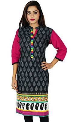 Ethnic Kurti Indian Printed Bollywood Kurta Women Casual Tunic Dress -- More info could be found at the image url.