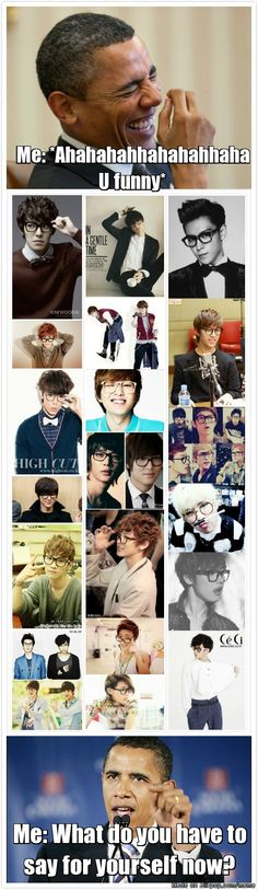 "People be like: ""Korean guys with glasses are not attractive"""