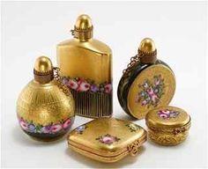 1960s Limoges 5 Piece Perfume Bottle Set