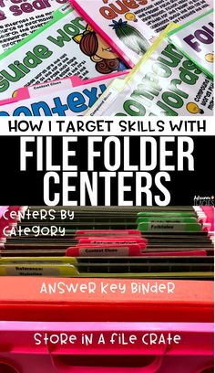 I use file folder centers in third grade to target specific reading ela skills that my students struggle with, read about how I organize the centers and grab a freebie.